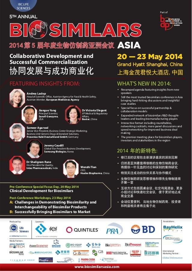 IBC Asia 5th Annual Biosimilars Asia 2014