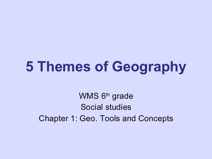 5 themes of geography start