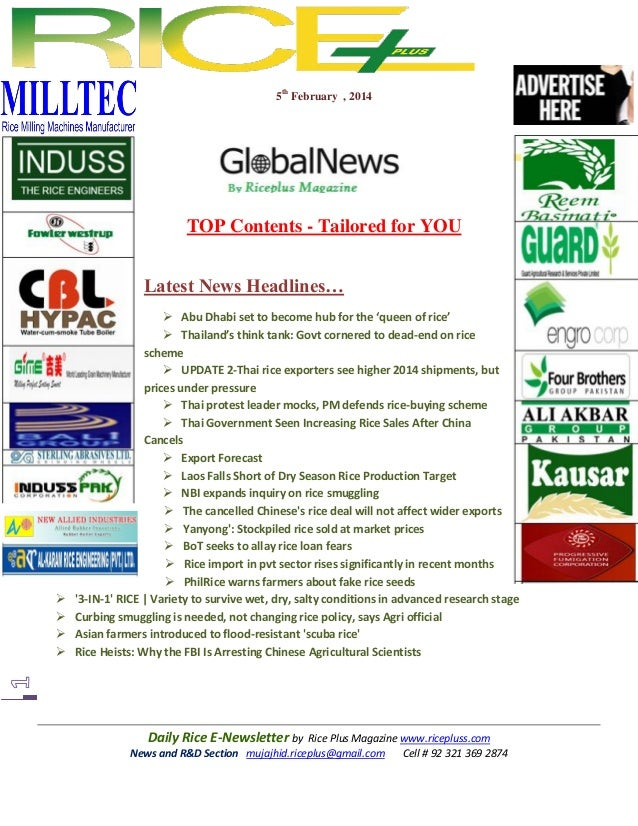 5th February , 2014  TOP Contents - Tailored for YOU Latest News Headlines…        Abu Dhabi set to become hub for th...