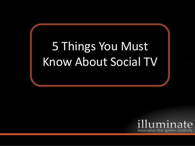 5 Things You Must Know About Social TV