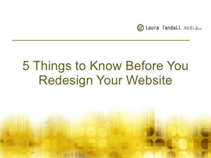 5things2know.About Web Redesign