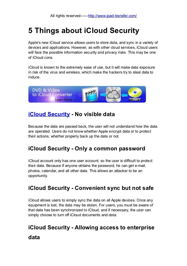 5 things about icloud security