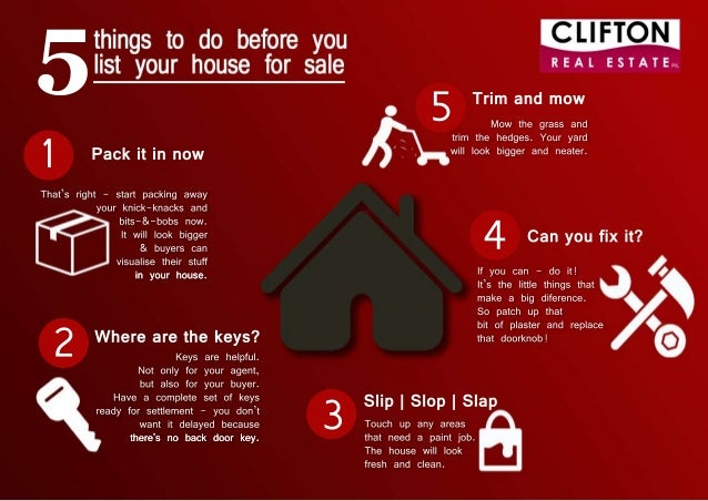 5 things to do before you list your house for sale