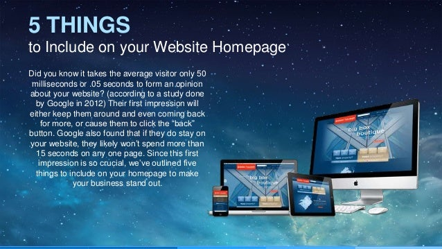 5 things to include on your website homepage