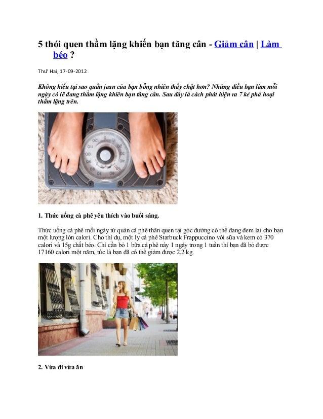 5 thói quen thầm lặng khiến bạn tăng cân - Giảm cân | Làm    béo ?Thứ Hai, 17-09-2012Không hiểu tại sao quần jean của bạn...