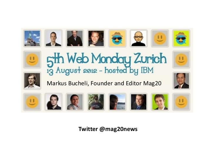 5th Web Monday - Presentation Mag20