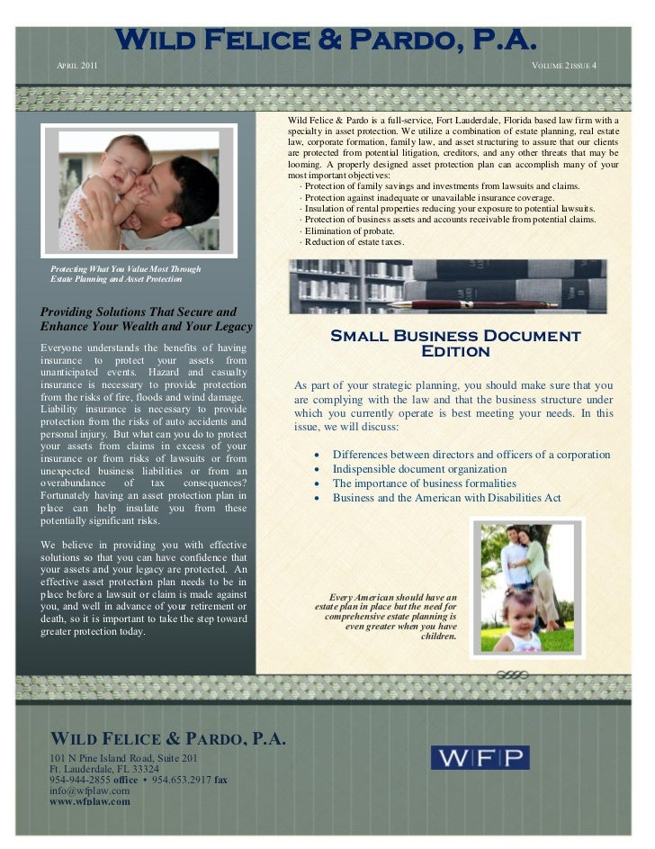 5th  wfp newsletter-april-2011