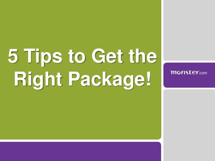 5 Tips to Get the Right Package!<br />