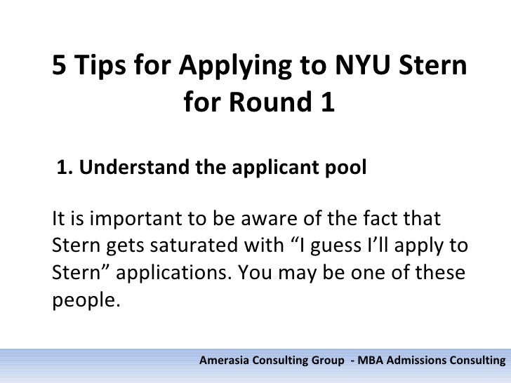 nyu essay question Nyu stern mba essay tips & deadlines they have moved that section of the old essay 1 question here to allow you to explain why you would pursue some or all of.