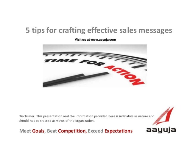 Five tips for effective sales messages