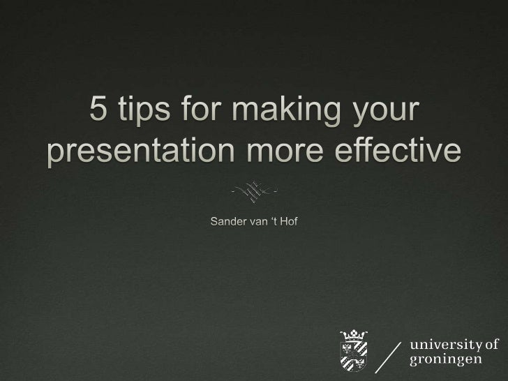 5 tips for presenting
