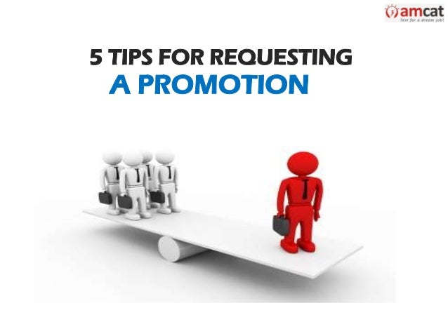 5 Tips for Requesting a Promotion