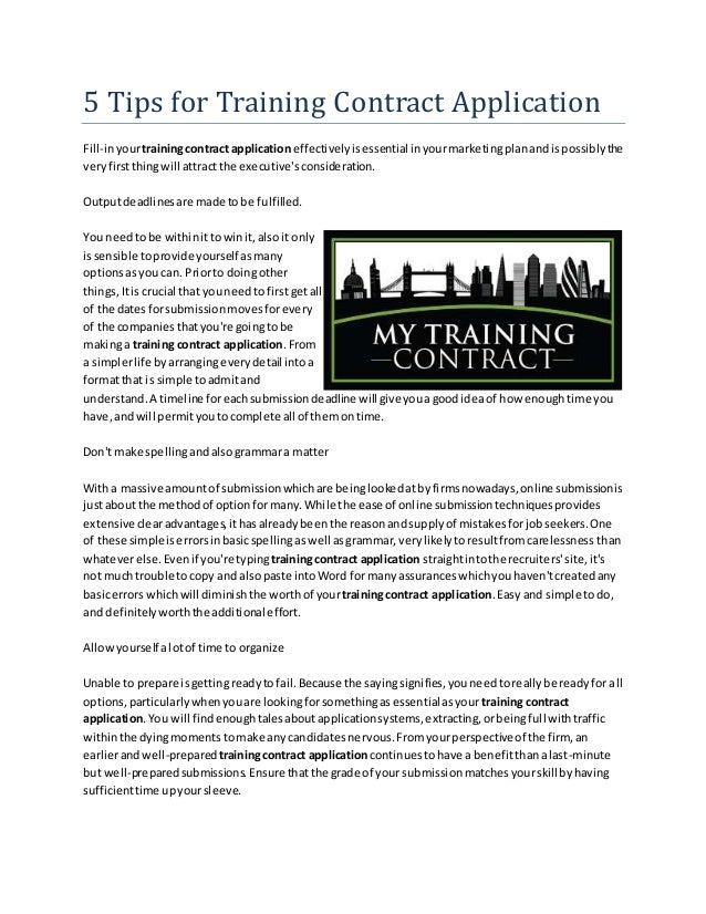 Contract Application