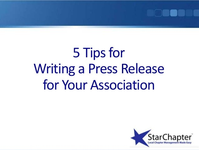 5 tips for writing a successful press release for your associaiton