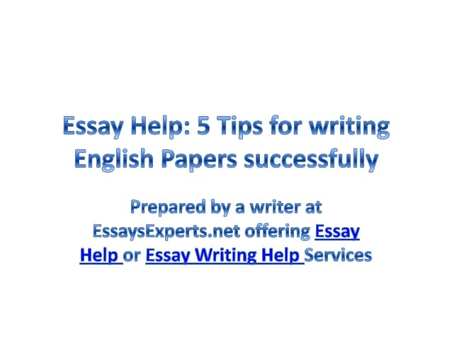 Help writing english paper