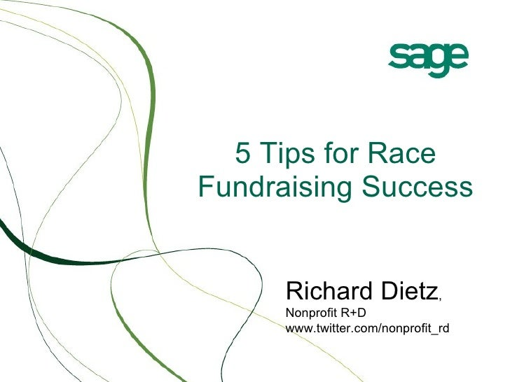 5 Tips for Race Fundraising Success