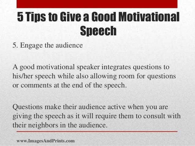 Making a good speech