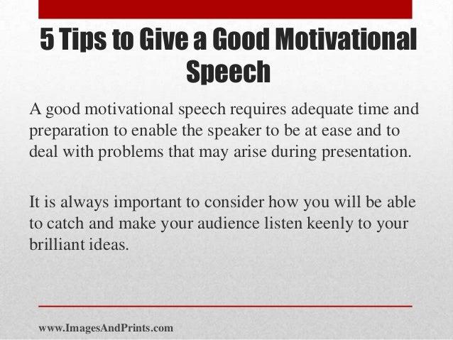 Writing an inspirational speech
