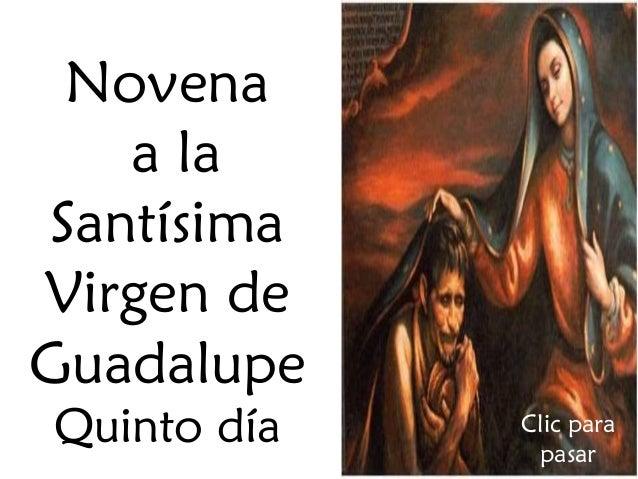 5to día novena a nuestra señora de guadalupe