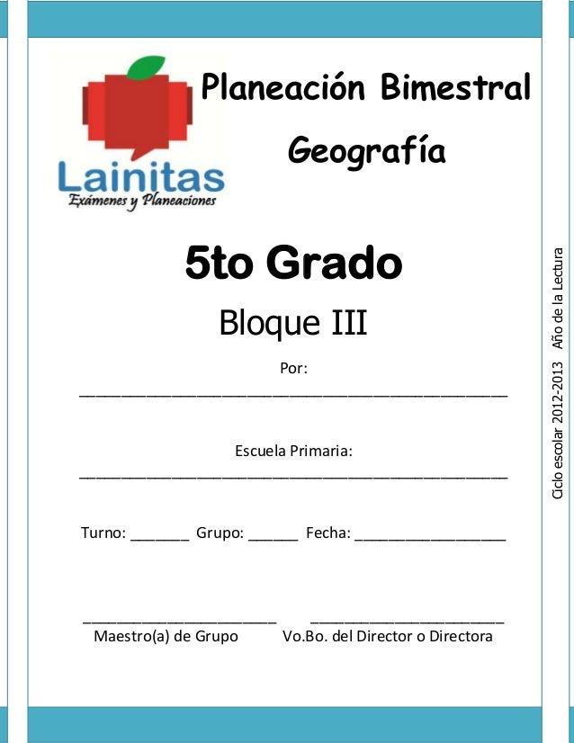 Libro De Quinto Grado Geografa Del 2015 2016 De La Sep ...