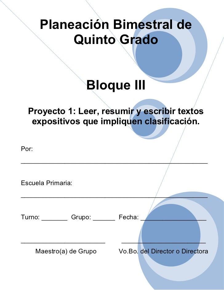 5to grado   bloque 3 - proyecto 1