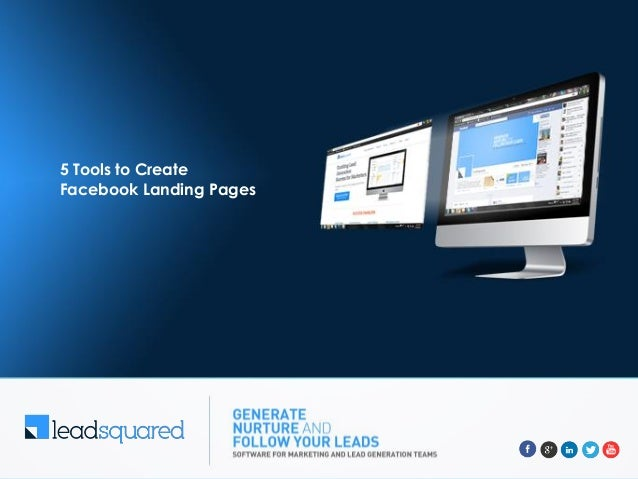5 Tools to Create Facebook Landing Pages