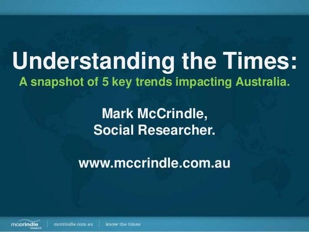 5 Key Trends Redefining Australia