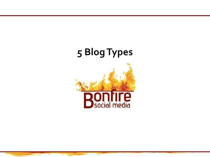 5 Blog Types<br />