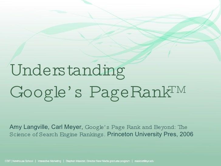 5 Understanding Page Rank