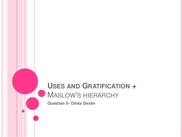 USES AND GRATIFICATION + MASLOW'S HIERARCHY Question 5- Olivia Dexter