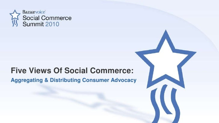 5 Views on Social Commerce