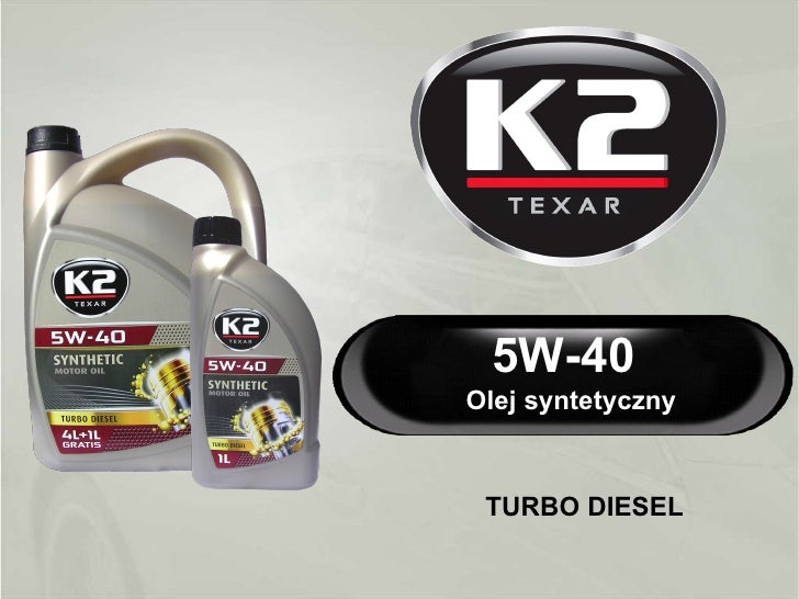 K2 TEXAR 5W-40 Turbo Diesel - syntetyczny olej silnikowy w technologii Nanotech