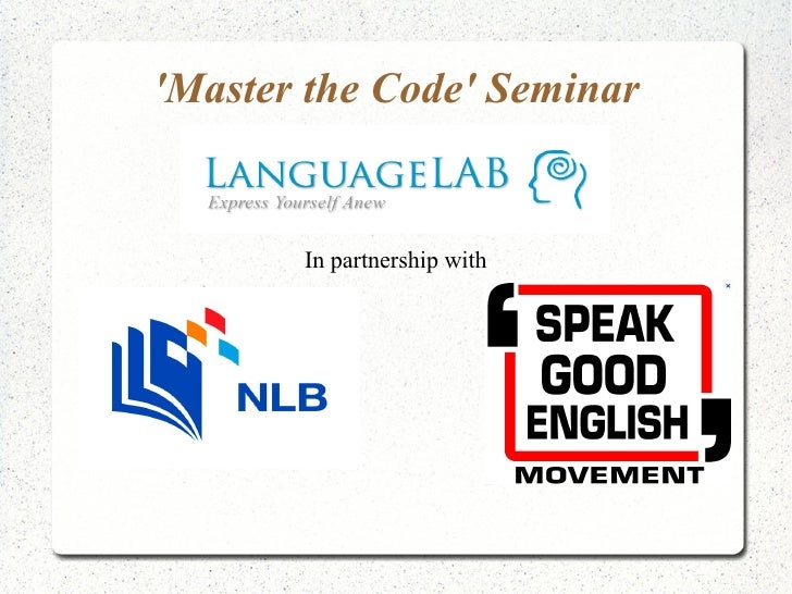 Master the Code Seminar       In partnership with