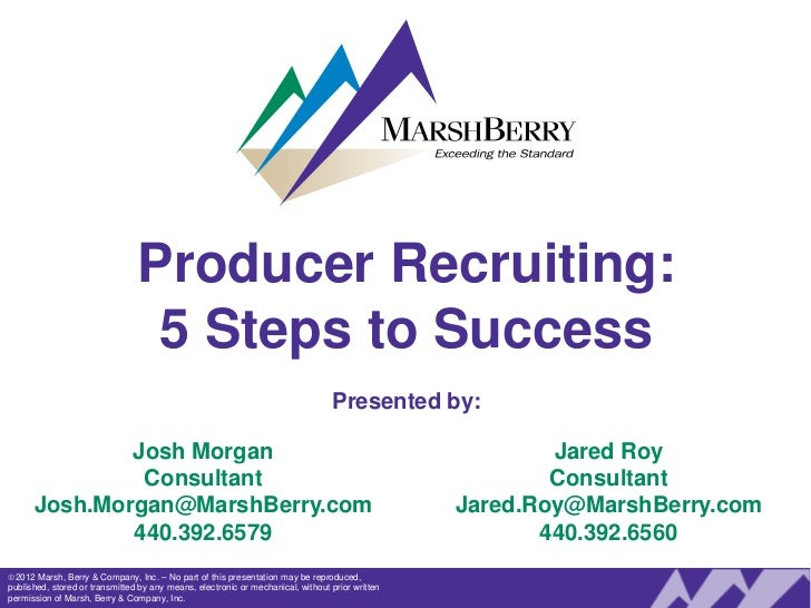 Producer Recruiting:                                 5 Steps to Success                                                   ...
