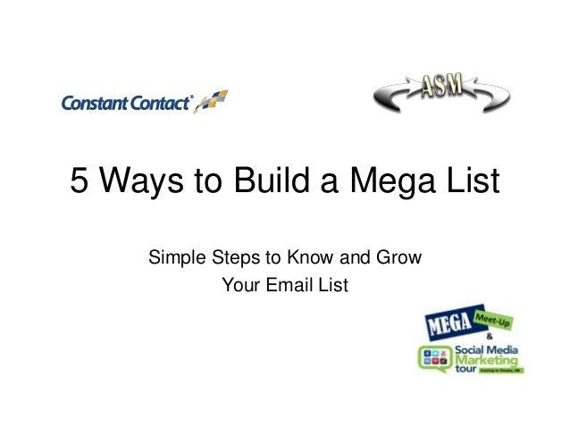 5 Ways to Build a Mega List