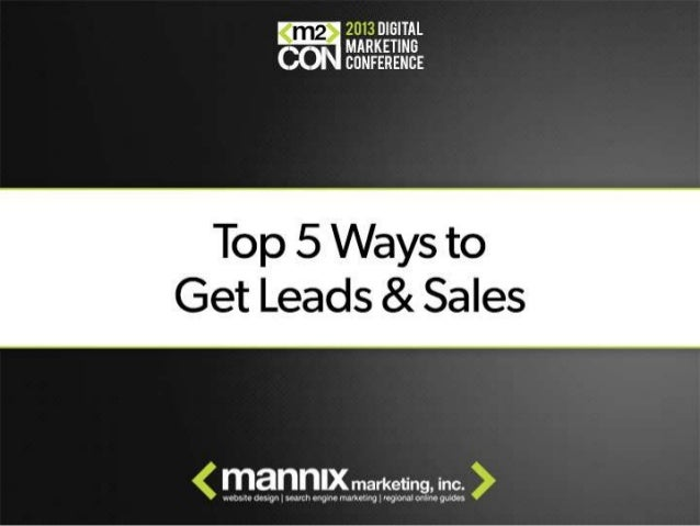 5 Ways to Get More Leads & Sales - M2Con Digital Marketing Conference