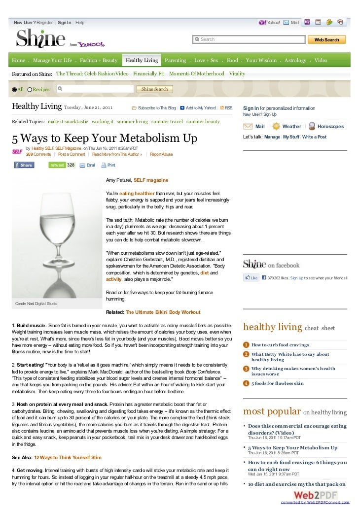 5 ways to keep your metabolism up