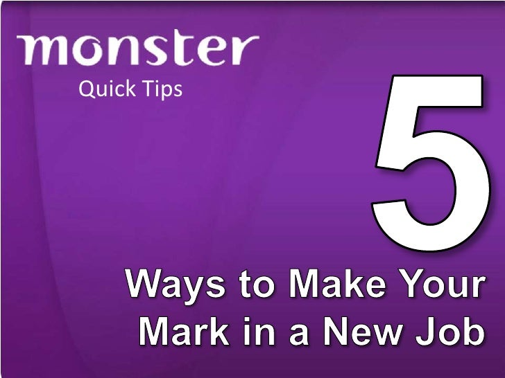 5 Ways to Make Your Mark in a New Job