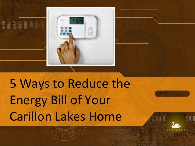 5 ways to reduce the energy bill of your carillon lakes home. Black Bedroom Furniture Sets. Home Design Ideas