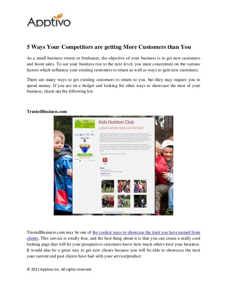 5 ways your competitors are getting more customers than you