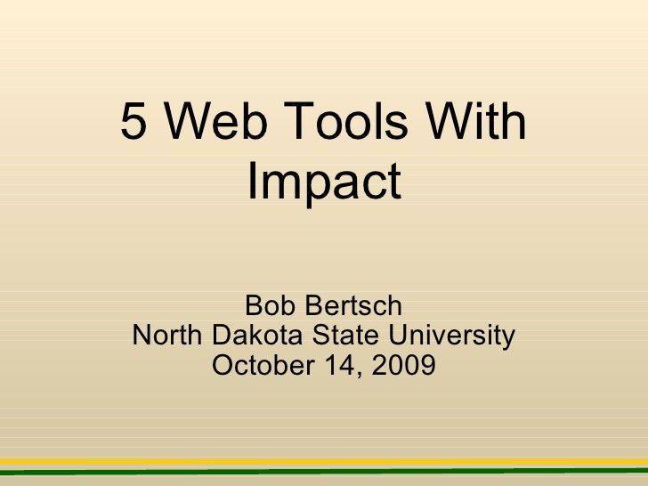 5  Web  Tools  With  Impact