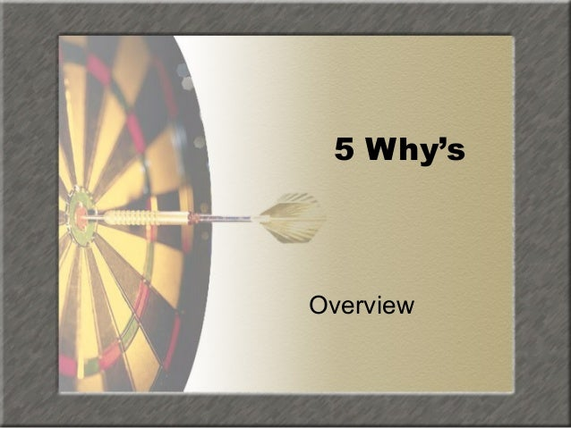 5 Why's  Overview