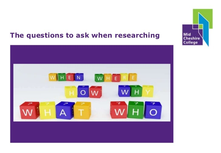 The questions to ask when researching<br />