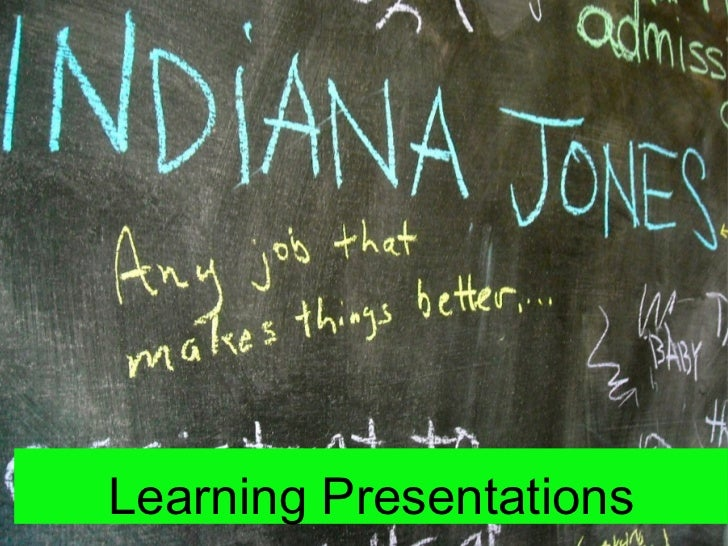Learning Presentations: Presentation Slam Example