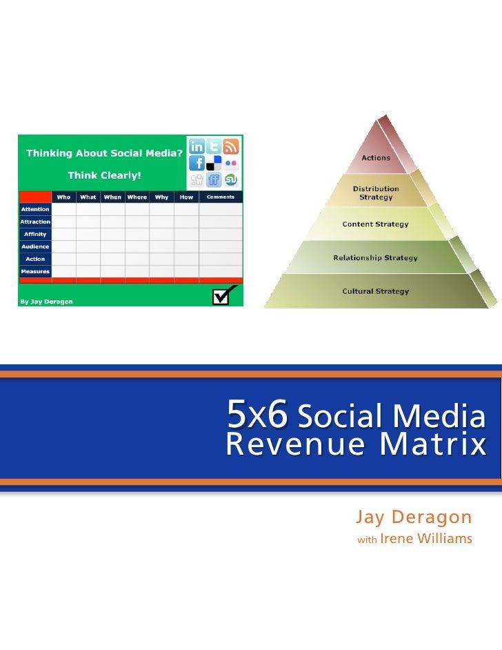 5 x6 social media revenue matrix