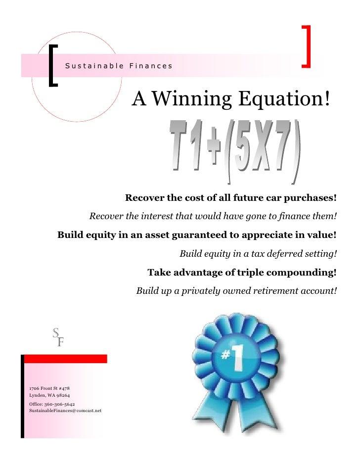 A Winning Equation