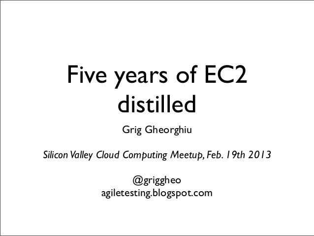 Five Years of EC2 Distilled