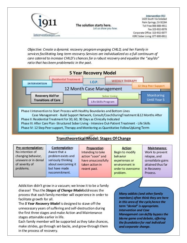 Objective: Create a dynamic recovery program engaging CHILD, and her Family in        services facilitating long term reco...