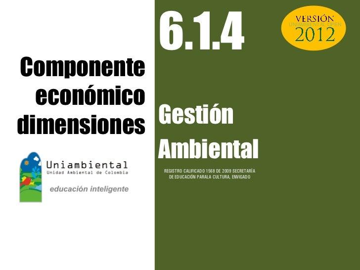 6.1.4                                         UNIAMBIENTAL OPENComponente  económicodimensiones Gestión            Ambient...