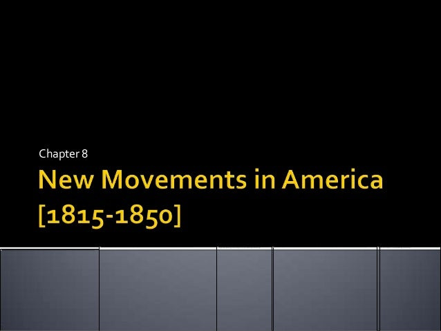reform movements in america from 1815 to 1850 Transcript of reform movements 1815-1840 reform movements abolition -abolitionism blossomed in the united states in the 1830's.